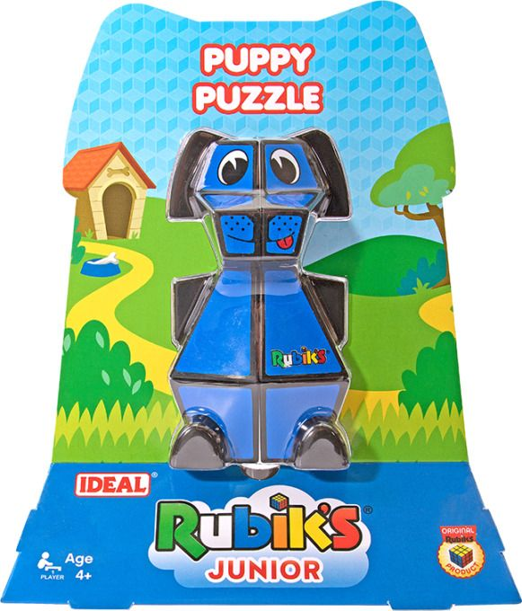 IDEAL Rubik's Junior Puzzle Cube Puppy Puzzle Childrens Toy